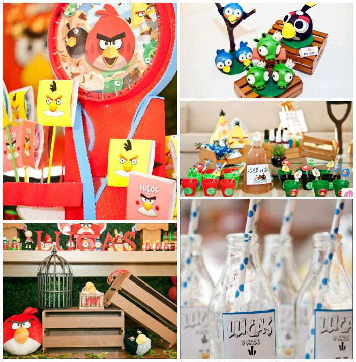 27 best images about birthday party video games theme on for Angry birds decoration ideas