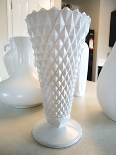 DIY milk glass.... or any color, really. Can use water with these, because the paint is on the outside. :)