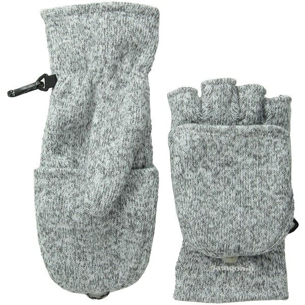 Patagonia Better Sweater Gloves (Birch White) Extreme Cold Weather... ($25) ❤ liked on Polyvore featuring accessories, gloves, beige, beige gloves, convertible fingerless mittens, convertible gloves, fingerless mitten gloves and patagonia gloves