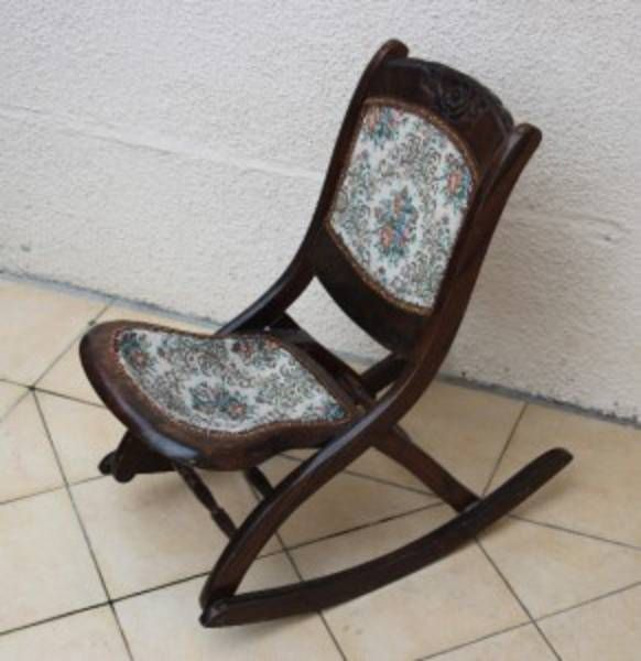 I own a chair just like this IDENTICAL They are folding rockers Some refe