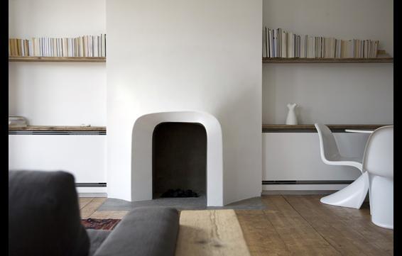 Twisted fireplace - Scenario Architecture, London, UK