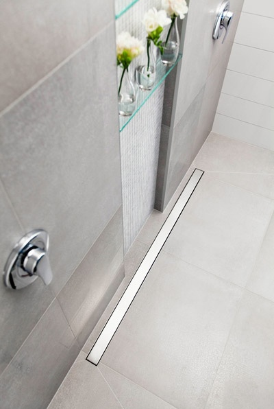 New to the market -- linear drain system for the shower floor #bathroom...x