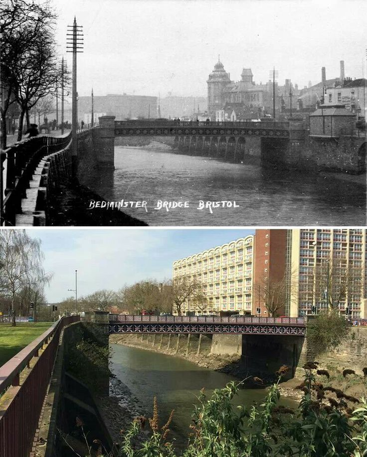 Bedminster Bridge - 1880's & now
