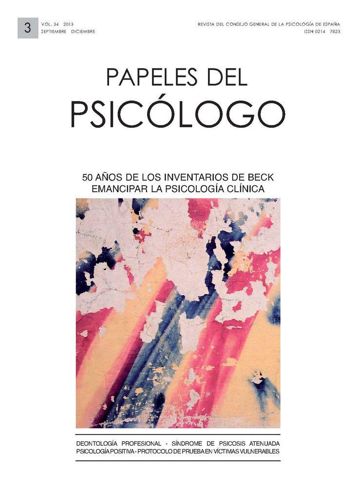 Revista Papeles del Psicólogo, es una publicación que pretende aportar información de interés del área de Psicología. Se publican 3 números al año.