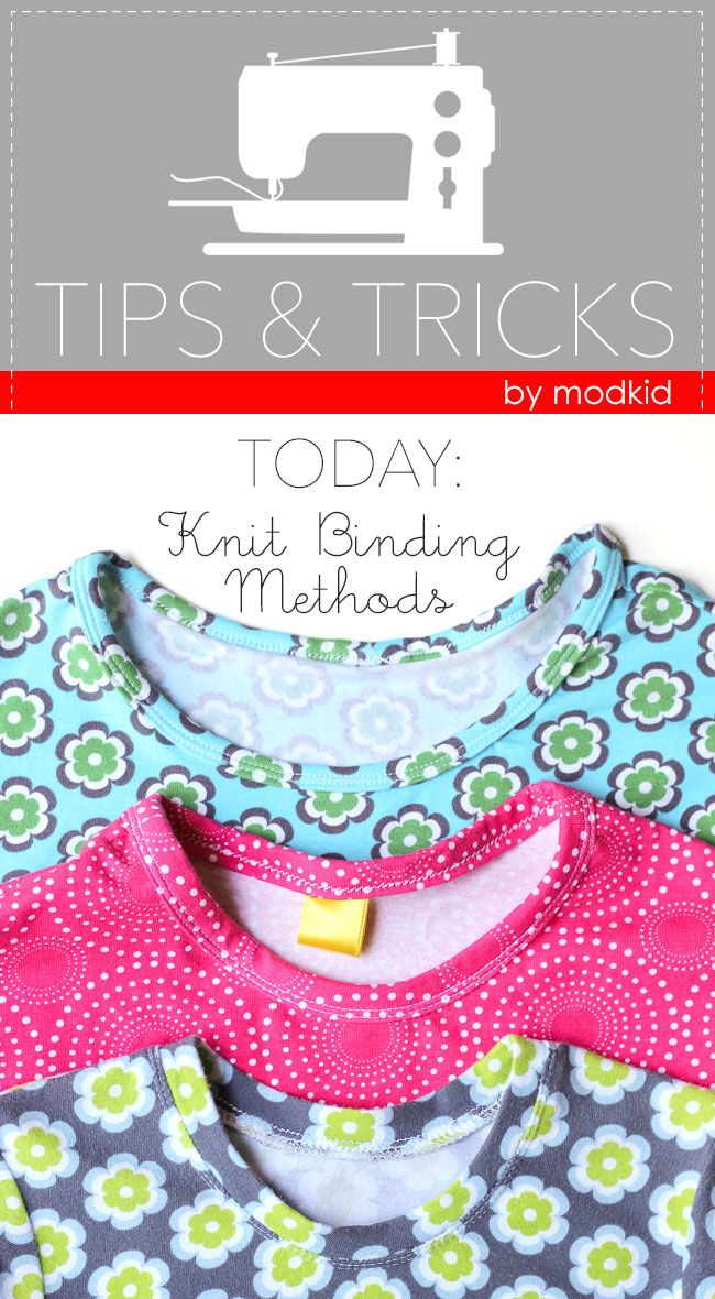 Tips and tricks for sewing knit neck binding.