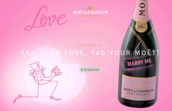 Tag your love, by Moët
