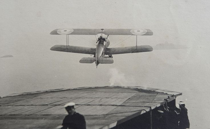 A Royal Navy Air Service (RNAS) fighter attempting an early ship take off.In those early ...