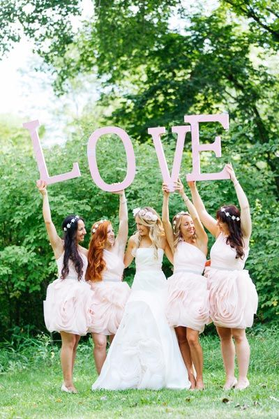 Feel the love with your bridesmaids.