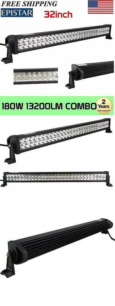 Car Lighting: 32 Inch 180W Led Light Bar Offroad Work Lamp Spot Flood Combo 4Wd Suv Boat Truck BUY IT NOW ONLY: $38.0