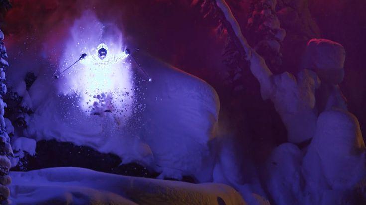 Afterglow: Skiers Traverse an Alaskan Mountain Range in LED Light Suit