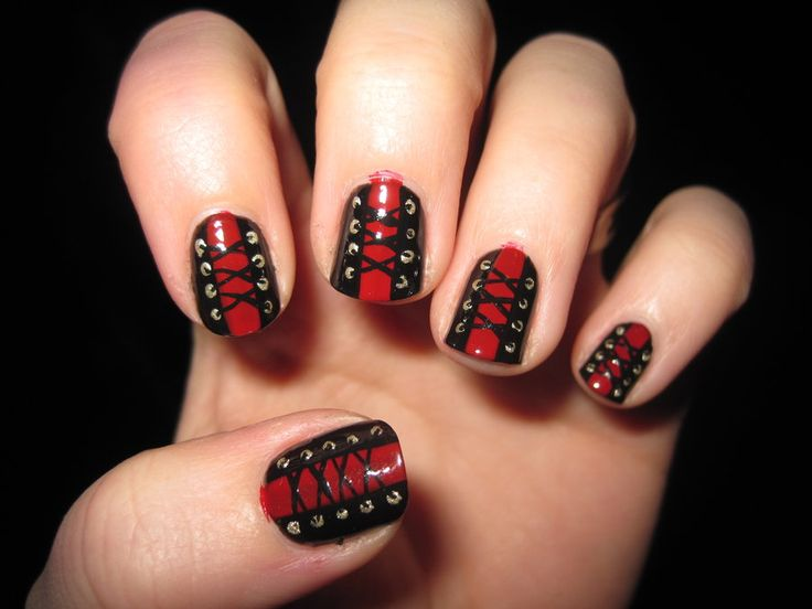 17 Best Ideas About Corset Nails On Pinterest Goth Nail Art Fishnet Nails And Pretty Nails