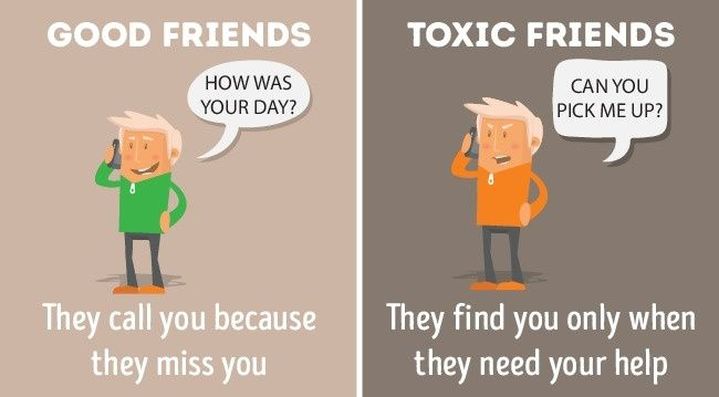 Keep toxic people out ofyour life.