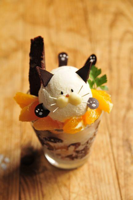 Japanese Kitty Parfait ♥ 猫パフェ