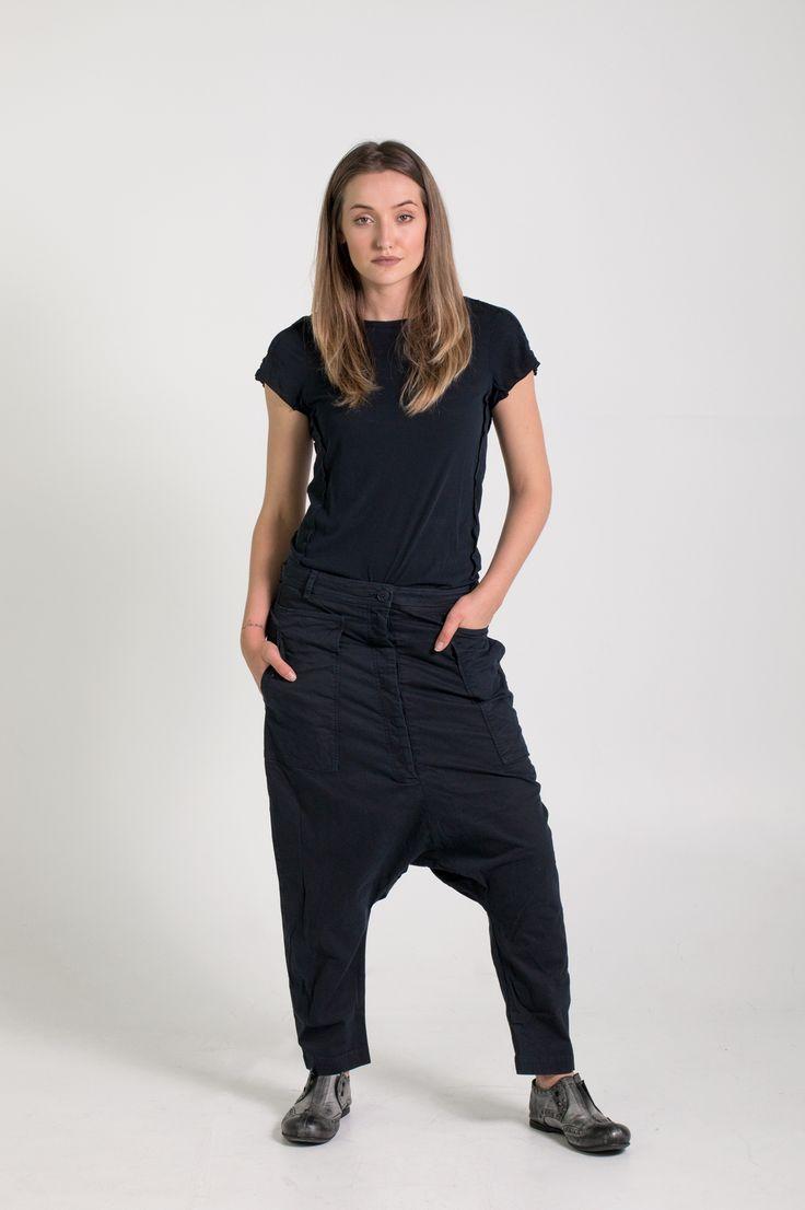 Rundholz Dip | Et Vous | Navy Drop Crotch Pants and T-Shirt