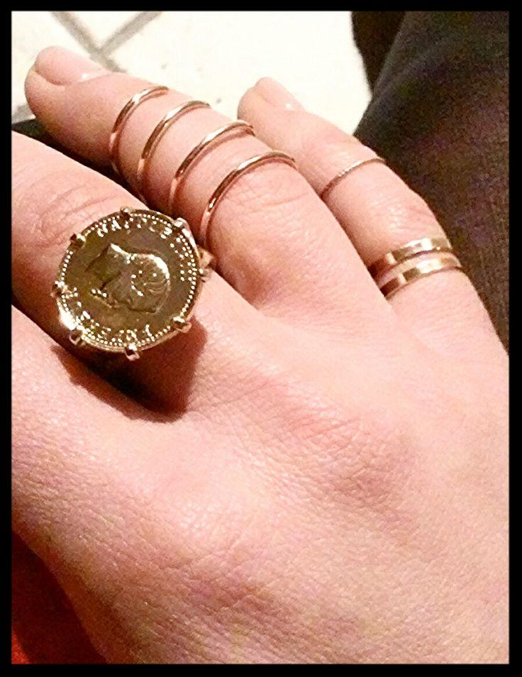 anelli in argento e ottone  in vendita su  www.aiardodesign.com