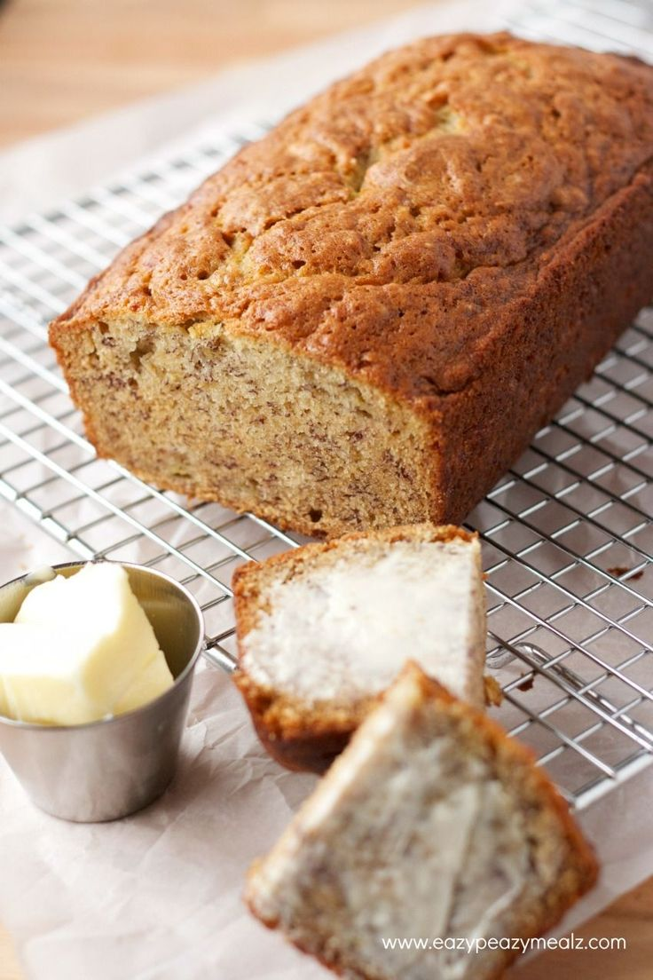 buttered banana bread