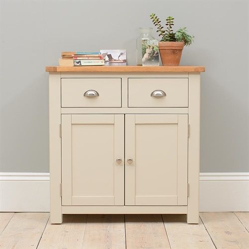 Lundy Stone Grey Small Sideboard (J494) with Free Delivery   The Cotswold Company - PP2SB
