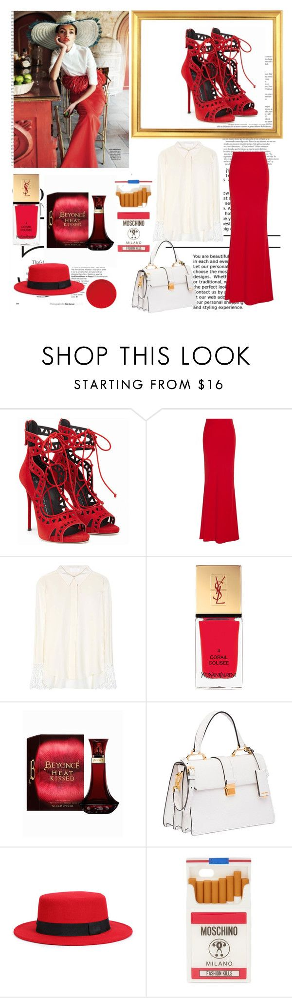 """""""red love"""" by renesmi ❤ liked on Polyvore featuring Oris, Nicole, Alexander McQueen, Chloé, Yves Saint Laurent, Miu Miu, WithChic, Moschino, red and alinabaikova"""