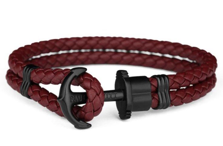 Paul Hewitt Armband Anchor Phreps staal/leder black-dark berry 21 cm (XXL) PH-PH-L-B-Db. Trendy Paul Hewitt donkerrode, lederen armband met zwarte ankersluiting. De trendy en populaire armband in donkerrood leer is 21 cm lang maar ook in andere lengtes verkrijgbaar. De armband is geschikt voor elke gelegenheid en outfit en voor zowel dames als heren geschikt.