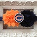 Chicago Bears headband-in pink and white