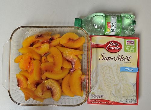 A FRIDGE FULL OF FOOD...: Pinterest Recipe: 1, 2, 3 Cobbler: Fruit, Cake Mix, Sprite...and that's it!