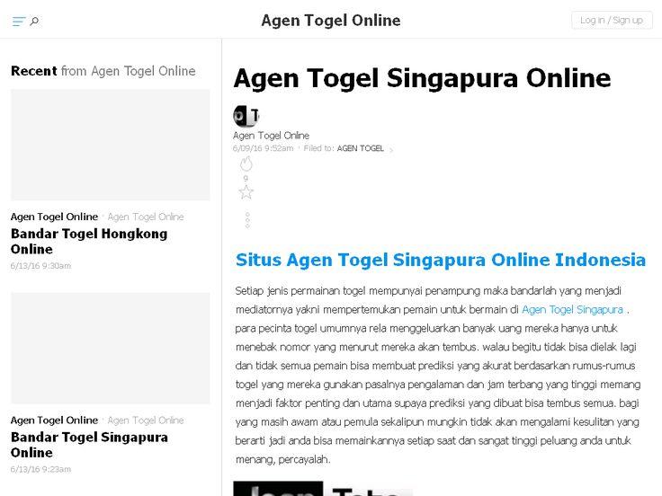 Agen Togel Singapura Online