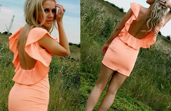 Loveeee this dress!: Summer Dresses, Dreams Closet, Style, Backless Dresses, Cute Dresses, Colors, The Dresses, Open Back, Ruffles