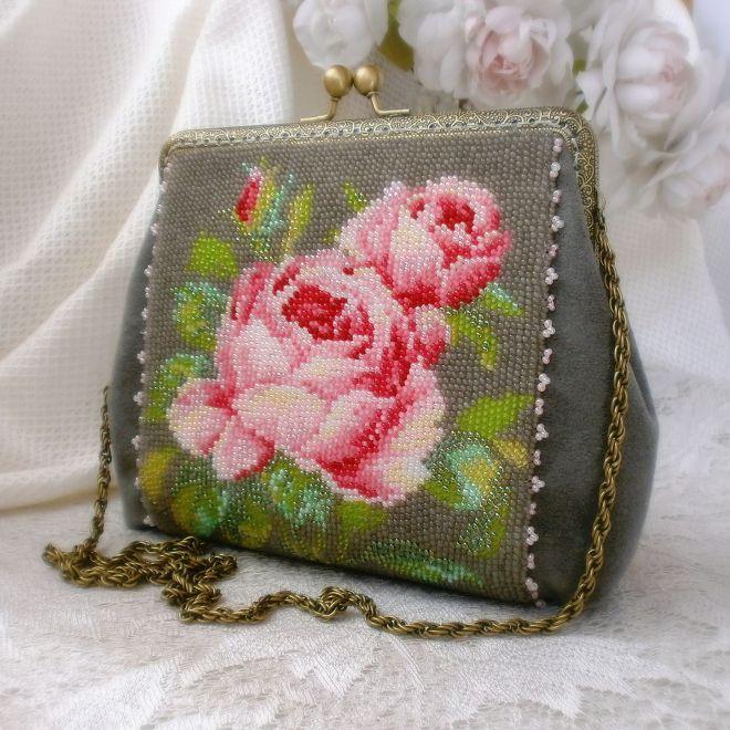 Сумочка из бисера Розовое чудо | biser.info - всё о бисере и бисерном творчестве