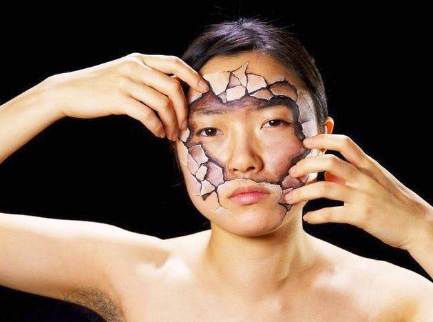 Seni lukis wajah yang sangat detail | CODE LAB ONLY | ceweknya yang di lukis banyak bulu keteknya