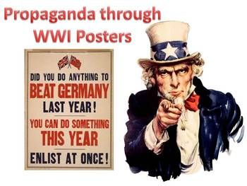 Holding a sale! Teaching students about propaganda and how it was used in WWI