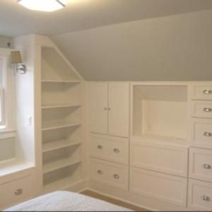Built in storage for a tiny room... by nell