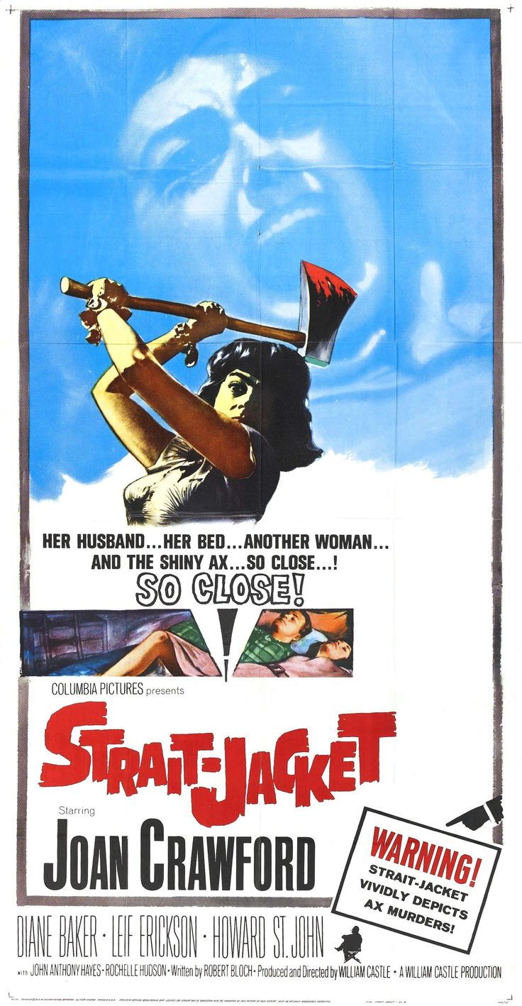Strait-Jacket (1964) ** | MOVIE POSTERS 1960s | Pinterest | After ...