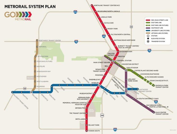 Houston metro rail map