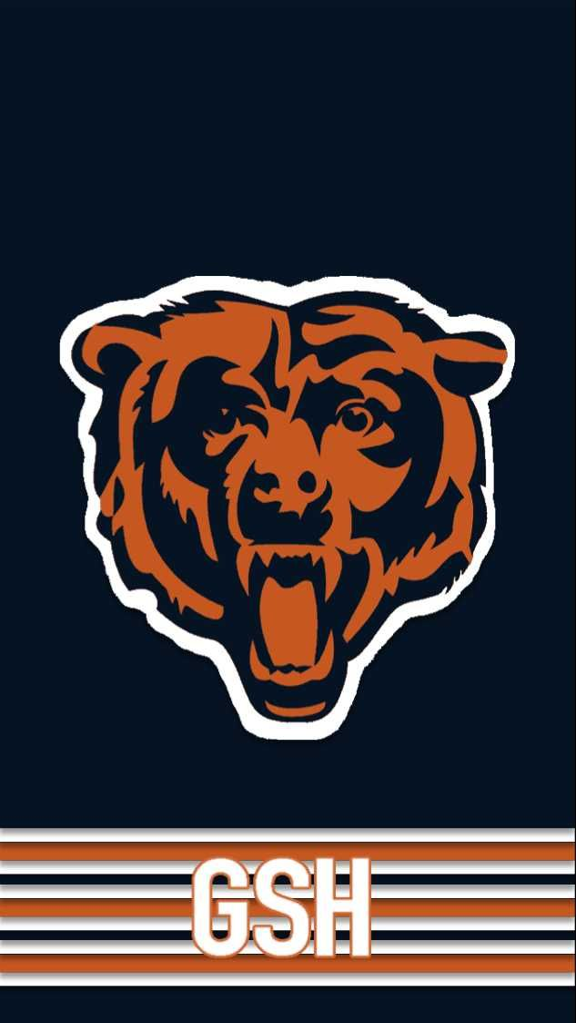 I Made Phone Wallpapers Based On The Jerseys Of Every Nfl Team With Throwbacks As An Added Bonus Chicago Bears Wallpaper Chicago Bears Pictures Chicago Bears