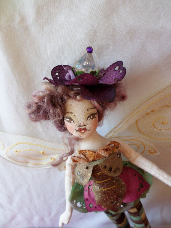 OOAK Fairy Art Doll  Pyxie Anne Mossbottom  by paulasdollhouse