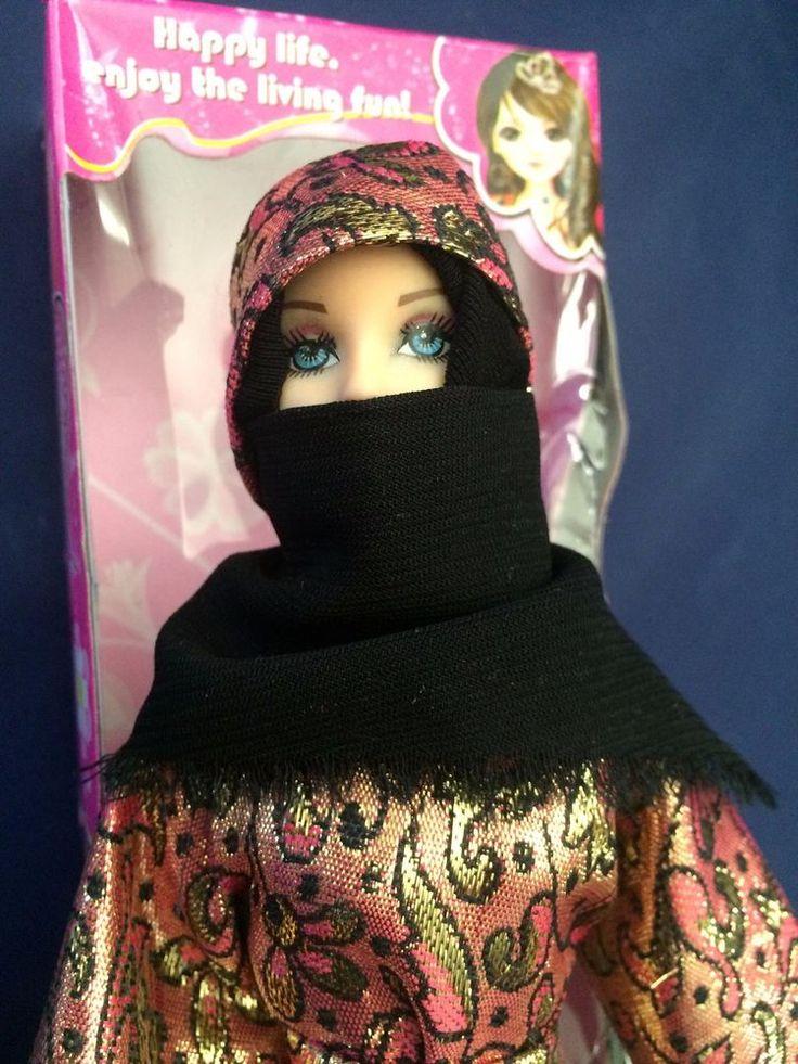 """Muslim Girl Islamic Arab """"Barbie"""" Beauty Fashion Doll wearing Hijab Head Scarf #Dolls"""