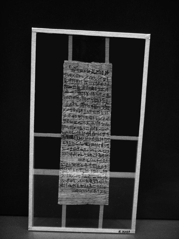 Incantation magique des «Quatre boules» Vers 1200-1150 av. JC, 20 dynastie, papyrus