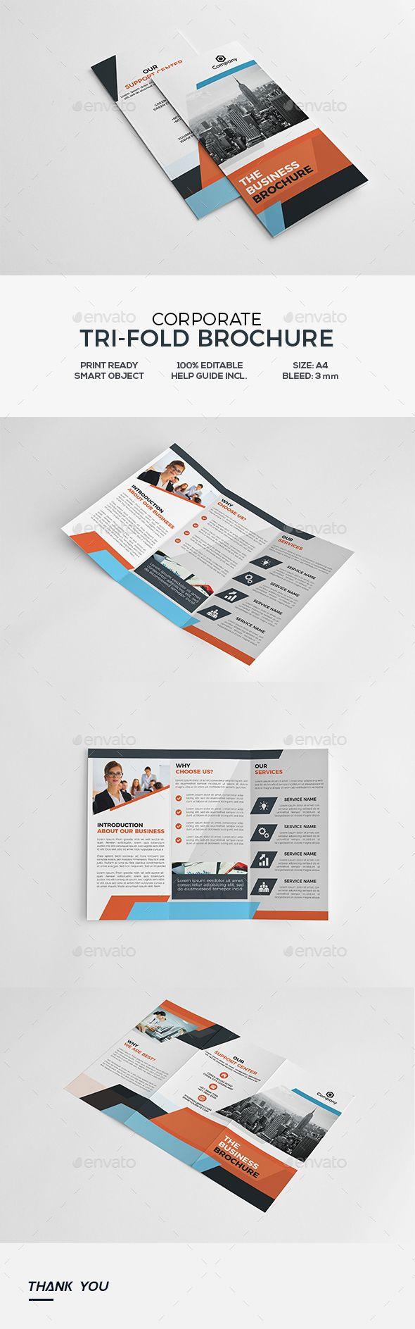 Corporate Trifold Brochure Template PSD