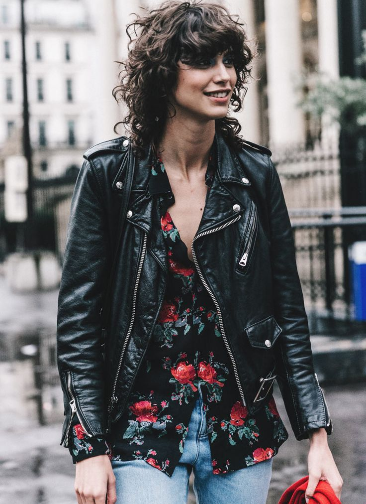 mica arganaraz street style | Street Style: Mica Arganaraz in Florals & Leather - The Front Row View