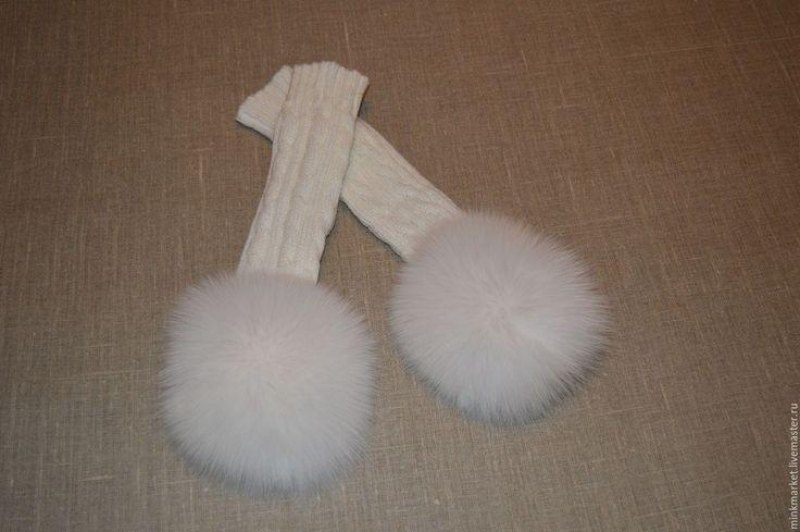 Купить Митенки Белоснежка - белый, митенки, митенки женские, митенки длинные, митенки с мехом