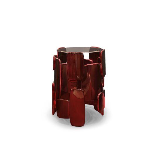 GOROKA | Side Table Modern Design by BRABBU // Round Side Table. Furniture Design. #sidetable #furnituredesign #interiordesign Find more at: http://www.brabbu.com/product/casegoods/goroka-side-table