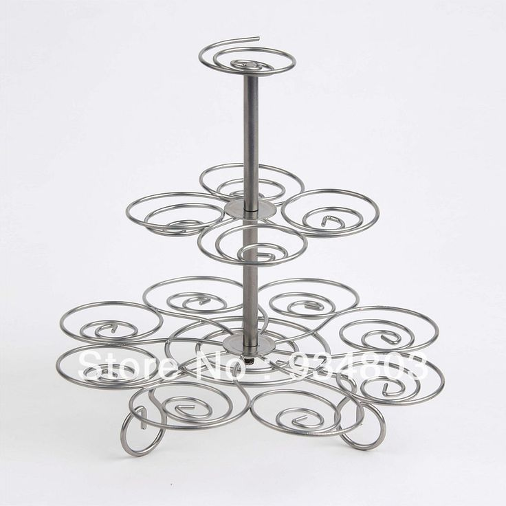 High-quality metal cupcake stand stree with 3 tiers to hold 13 wedding cupcakes $15.00