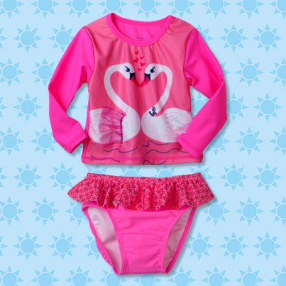 Pumpkin Patch Babies Swan Rash Set - available in sizes 3-6m to 2 years http://www.pumpkinpatchkids.com/