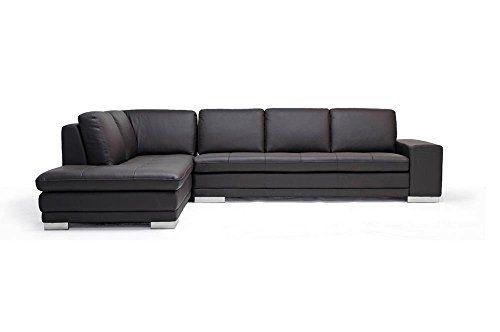 Amazing Baxton Studio Callidora Brown Leather Sectional Sofa
