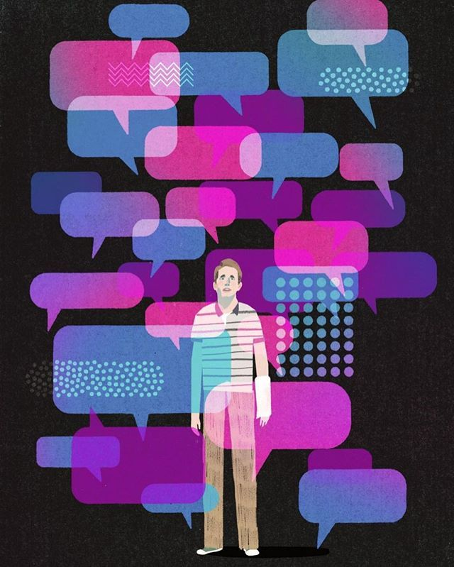 "In ""Dear Evan Hansen,"" the actor Ben Platt brings a new level of reality not just to the musical, but to Broadway. Click the link in our bio to read Hilton Als review of the show that puts pop psychology onstage. Illustration by @keith_negley."