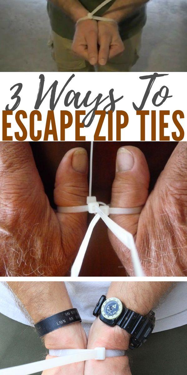 3 Ways To Escape Zip Ties - life tip