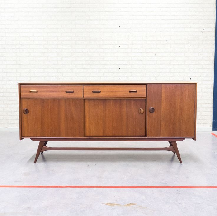 Toll Sideboard From The Fifties By Louis Van Teeffelen For Wébé