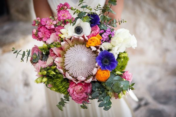 Bouquet, Tropical Jewish Wedding with South African Flower {Julie Saad Photography} - mazelmoments.com