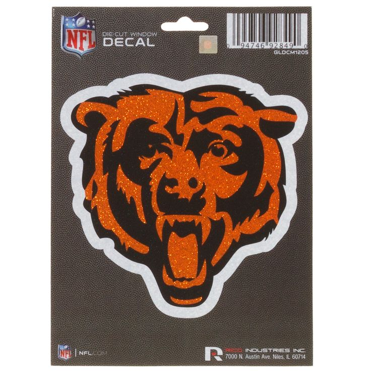 Chicago bears glitter logo bling die cut decal 5 x 5 by rico