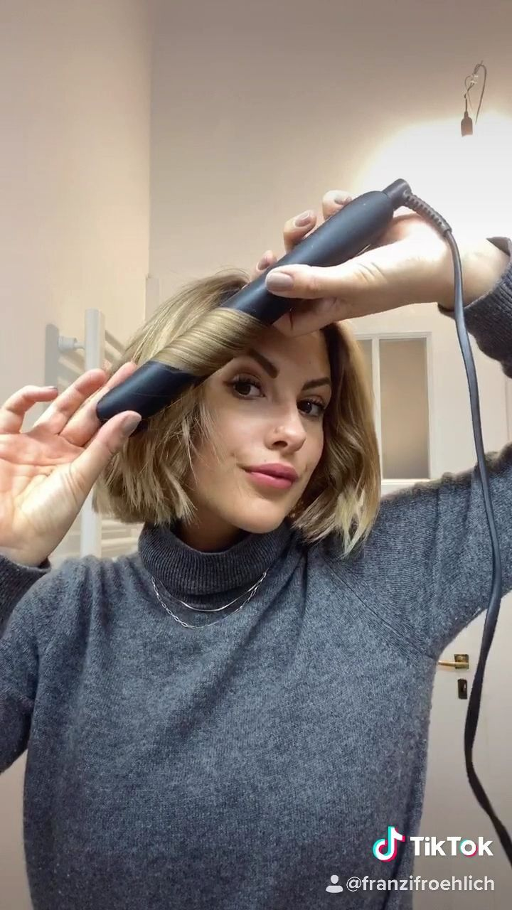 Wellen mit kurzen Haaren, in 9  Short hair tutorial, Hair